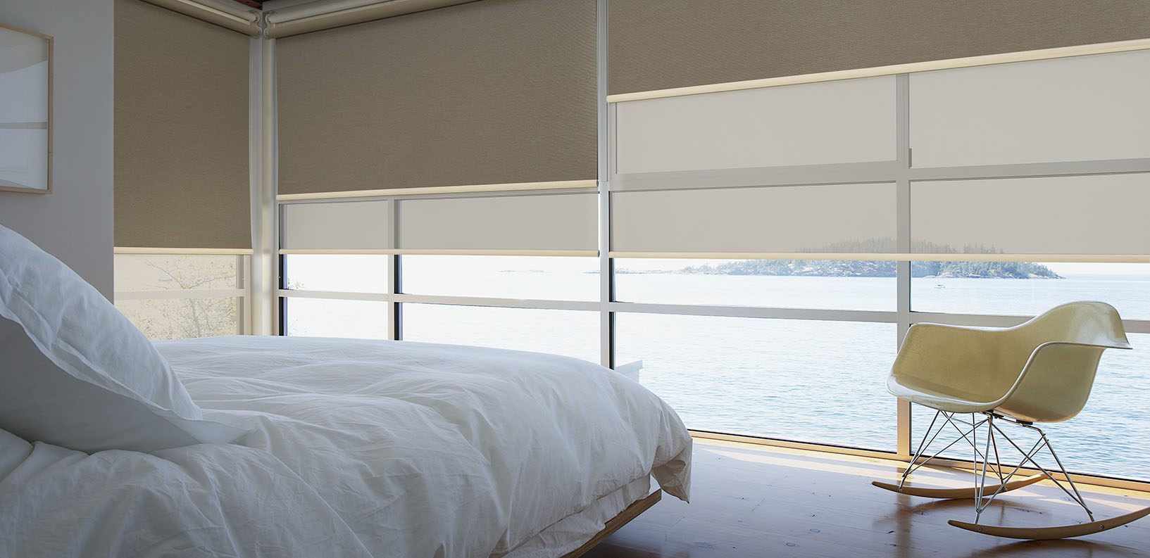 Bedroom With Waterfront Window